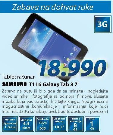 Tablet Galaxy Tab 3 T116