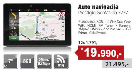 Navigacija GeoVision 7777