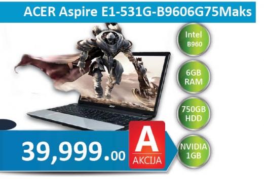Laptop Aspire E1-531g-B9606G75Maks