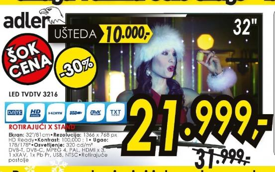 Televizor LED LCD DTV 3216