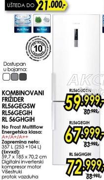 Kombinovani frižider Rl54ghgih