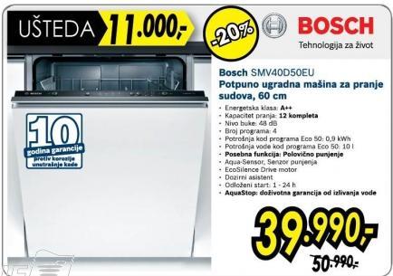 Mašina za pranje sudova Smv40d50eu
