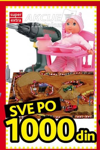 Igračke - sve po 1000 dinara!