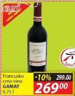 Crno vino Gamay