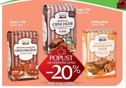 20% popusta na Danubius brašna 900gr