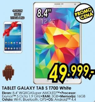 Tablet Galaxy Tab S T700 White