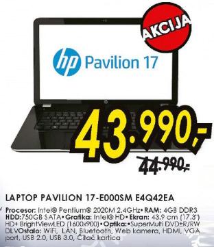 Laptop Pavilion 17-E000SME4Q42EA
