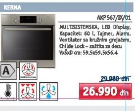 Ugradna rerna AKP 567/IX/01