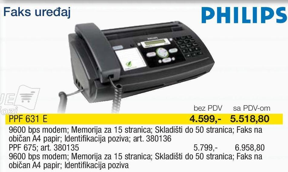 Fax Uređaj PPF 631 E