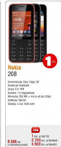 Mobilni telefon Asha 208