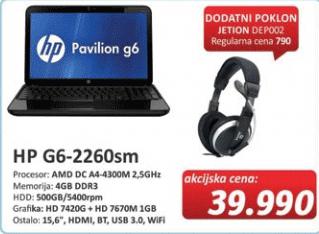 Laptop G6-2260sm