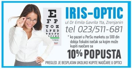 10% popusta u IRIS-OPTIC-u