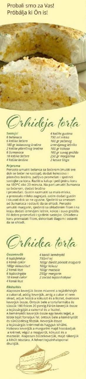 Recept Orhideja torta