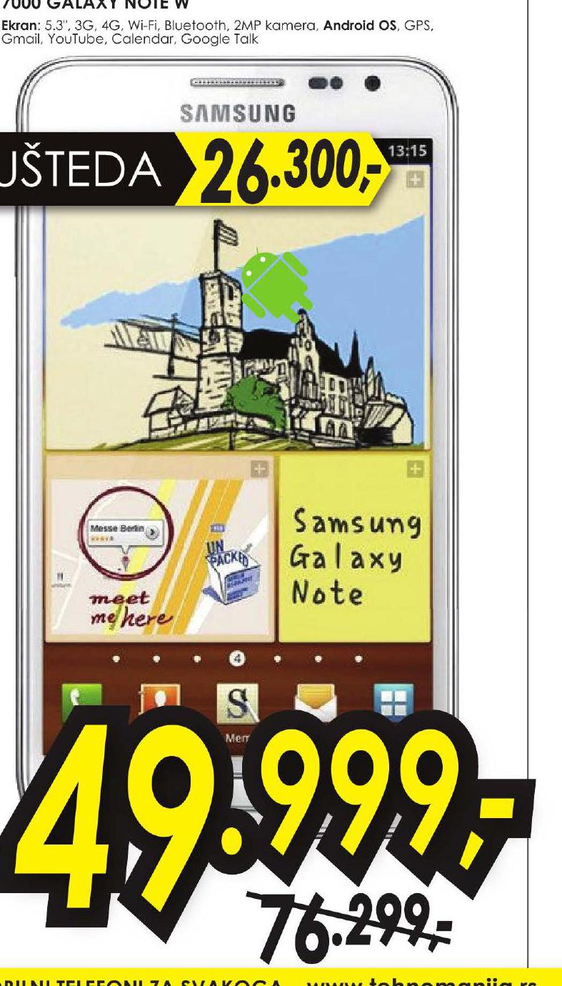 Mobilni Telefon 7000 Galaxy Note W