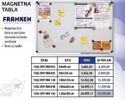 Magnetna tabla 100x150 Franken