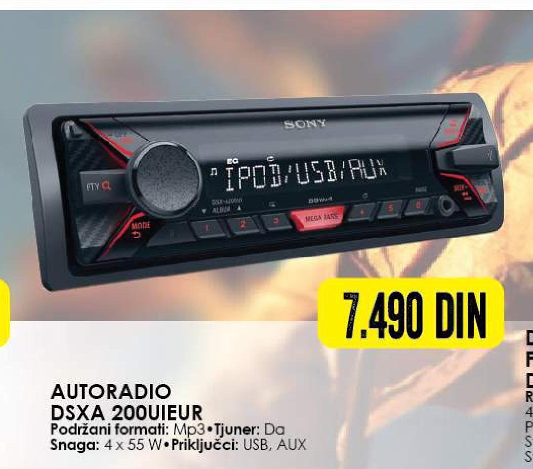 Auto radio DSXA2000UIEUR