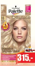 Farba za kosu Deluxe, Palette