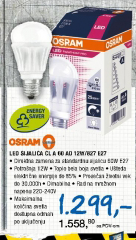 Led sijalica OSRAM  CL A 60 AD 12W/827 E27