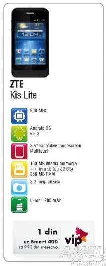 Mobilni telefon ZTE Kiss Lite
