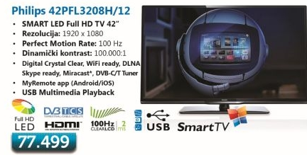 LED LCD 42Pfl3208H 12 Televizor