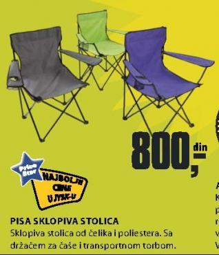Stolica PISA sklopiva stolica