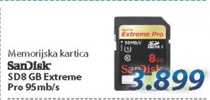 Memorijska kartica SD8GB Extreme