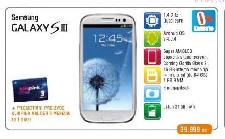 Mobilni telefon Galaxy SIII