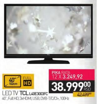 """Televizor LED 40"""" L40e3003fc"""