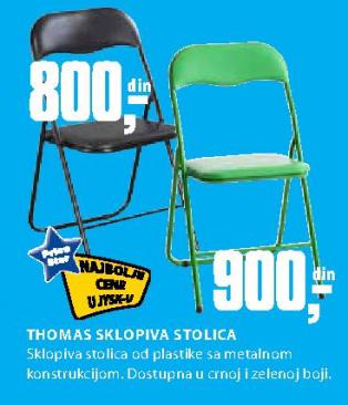 Sklopiva stolica Thomas, crna