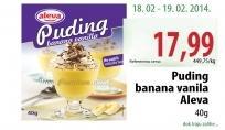 Puding banana i vanila