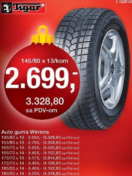 Auto guma Wintera 165/70x13