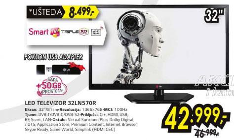 Televizor LED LCD 32LN570R+Poklon: LG bežični USB adapter AN WF100