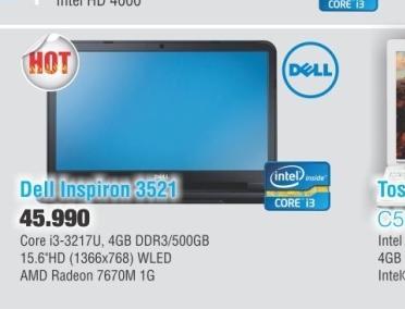 Laptop  3521-i3-7670