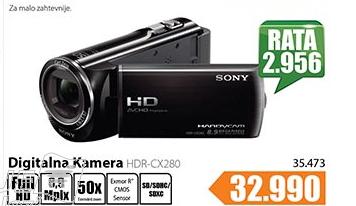 Digitalna Kamera HDR-CX280EB