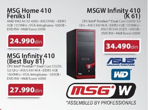 Računar MSGW Uspon Infinity 410 B4G