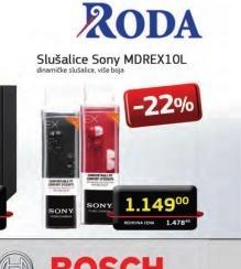 Slušalice MDREX-10LPB