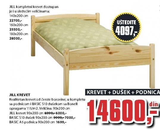 Krevet Jill 160x200 cm