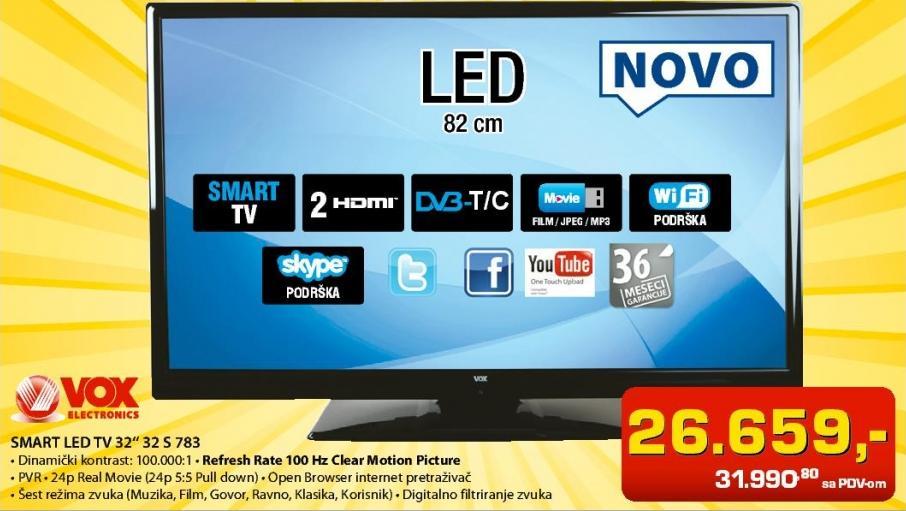 """Televizor LED 32"""" 32 S 783"""