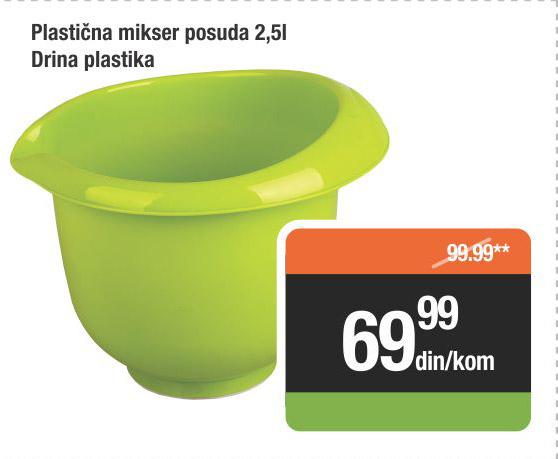 Plastična posuda mikser 2,5l