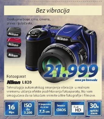Fotoaparat COOLPIXL820