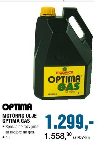 Motorno ulje Optima Gas