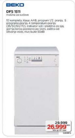 Mašina za pranje sudova Dfs1511