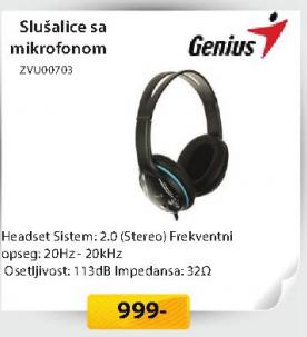 Slušalice ZVU00703