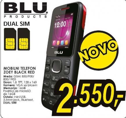 Mobilni telefon ZOEY BLACK/RED