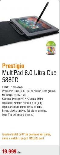 Tablet Multipad 8.0 Ultra duo 5588C-Duo