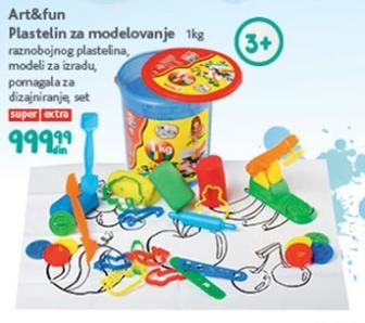 Igračka Plastelin za modelovanje Art and fun