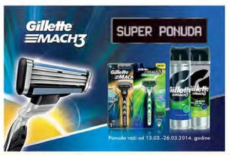 Gillette MACH3 super ponuda