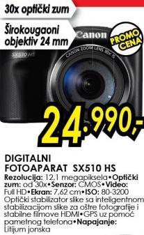 Digitalni fotoaparat Sx510 Hs