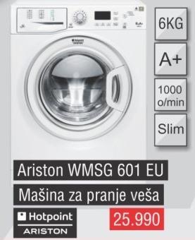 Mašina za pranje veša Wmsg 601 Eu