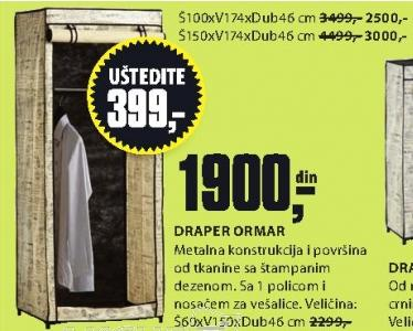 Ormar Draper 150x174x46